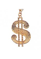 collier dollar bling bling doré