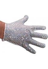 gants michael jackson paillettes argentés enfant