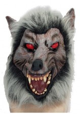 Masque de loup garou en latex + perruque