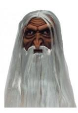 vieillard + cheveux et barbe
