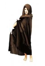 cape noire avec capuchon