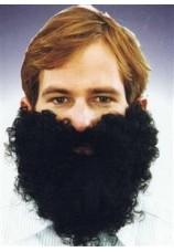 barbe noire bouclée