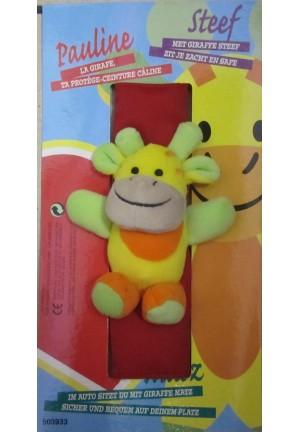 Doudou Pauline la girafe pour la ceinture de sécurité