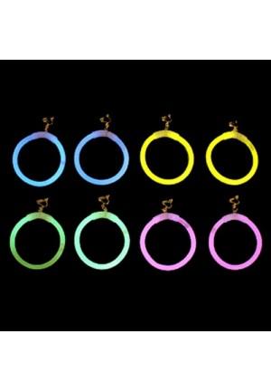 Boucles d'oreilles glow - lumineux -phospho