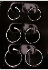 Faux piercing 6x argentés