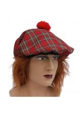 bonnet écossais + cheveux