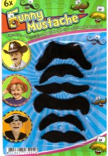 6 x moustaches enfant