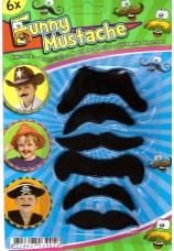 6 x moustaches enfant