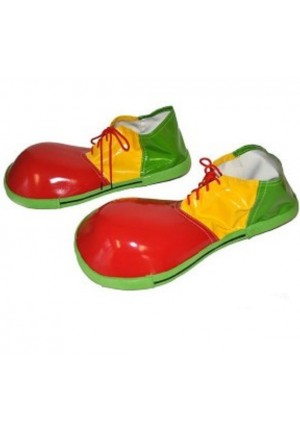 chaussures de clown tricolores