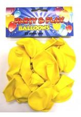 25 ballons standart jaunes