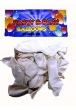 25 ballons standart blanc