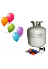 kit helium et 50 ballons multicolor