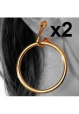 Boucles d'oreilles anneaux clips