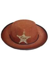 Cowboy sherif brun petit enfant