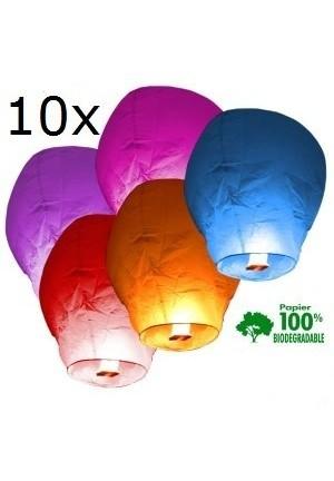 lot de 10 lanternes célestes