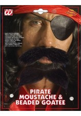 moustache et barbe pirate