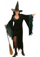 Sorciere noir et bleu avec chapeau