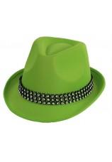 chapeau neon vert