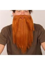 Longue barbe rousse et bouclée