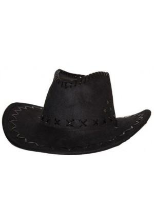 cowboy simili daim noir