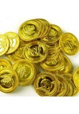 144 pièces de pirate dorées