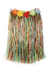 Jupe en raffia,pagne multicolor
