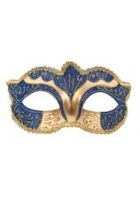 Masque venitien doré et bleu