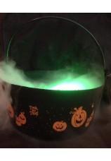 chaudron + générateur de brouillard ultrason + led