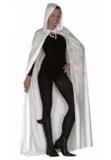 Grande cape à capuche en velvet blanche