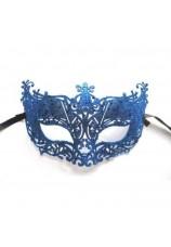 Masque venitien ciselé bleu
