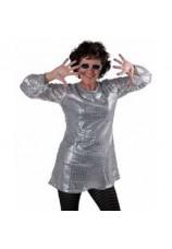 robe disco argentée