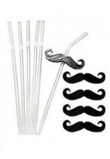 6 pailles + 6 clips moustaches réutilisables