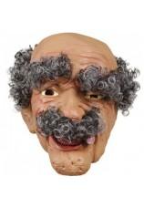 Masque de vieillard avec cheveux