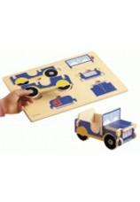 puzzle jeep 3D Nathan en bois