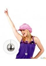 Collier disco - boule a facettes