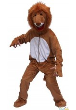 Costume complet de lion en peluche