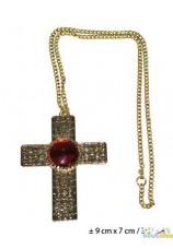 Chaine dorée + croix