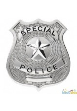 Badge de police en metal