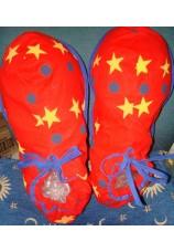 chaussures de clown en tissus