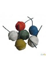 boules fumigènes multicolors