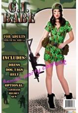 Femme soldat US - militaire