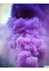 Torche fumigène mauve