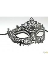 Masque vénitien metal ciselé noir