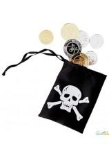 Bourse de pirate avec pièces