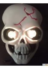 Masque tête de mort lumineux pour déco