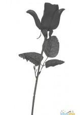 Rose noire en tissus
