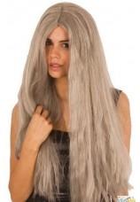 Perruque longue grise