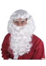 Perruque et barbe de père noel pro