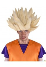 Perruque manga dragon ball blond