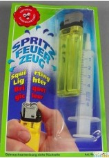 Briquet gicleur acec seringue pour le remplir